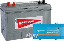 100ah Slow Discharge Leisure Battery And Phoenix Converter 12v 500va