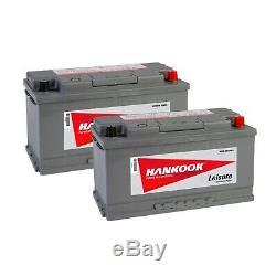 1-2 Battery Discharge Slow Hankook Xv110 12v 110ah Boat Caravan Camping Car