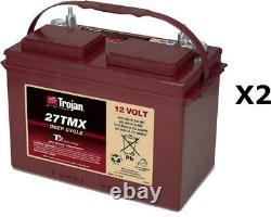 2x Batteries Discharge Slow Trojan 27tmx 12v 105ah