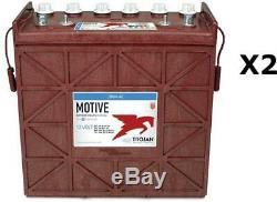 2x Batteries Discharge Slow Trojan J185h 12v 225ah