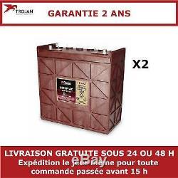 2x Batteries Discharge Slow Trojan J185p 12v 205ah