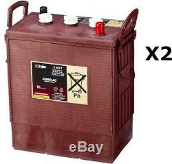 2x Batteries Discharge Slow Trojan J305g 6v 315ah