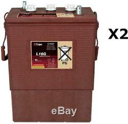 2x Batteries Discharge Slow Trojan L16g 6v 390ah
