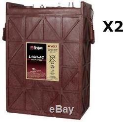 2x Batteries Discharge Slow Trojan L16h 6v 435ah