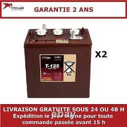 2x Batteries Discharge Slow Trojan T125 6v 240ah