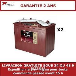 2x Batteries Discharge Slow Trojan T1275 12v 150ah