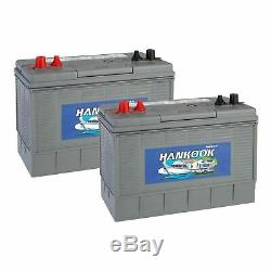 2x Hankook 12v 100ah Battery Discharge Lente Caravan, Boat Xv31