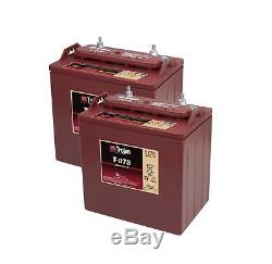 2x Trojan 8v Battery Discharge Slow Solar Boat Deep Cycle