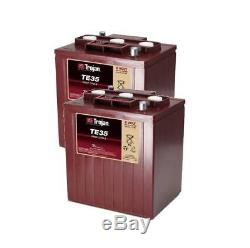 2x Trojan Te35 Battery Discharge Slow 245ah 1200 Cycles Of Life