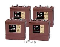 4x Trojan T105 Battery Slow Discharge 6volt 1000 Recharge Cycles