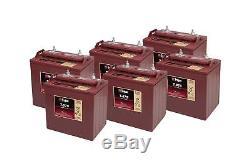 6x Trojan 8v Battery Slow Discharge T875