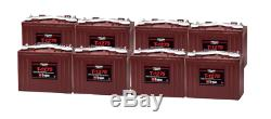 8x Trojan T1275 Battery Discharge Slow 12v