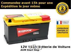 95ah Agm Battery Discharge Slow / Leisure / Camping Car 12v, Varta Lfd90
