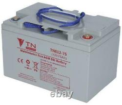 Agm Tne12-75 Tn Power Slow-load Battery For Electric Bicycles, Scooters