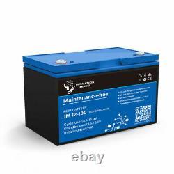 Battery 100ah 12v Agm Discharges Lente-ultimatron