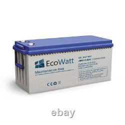 Battery 200ah 12v Gel Discharge Slow-ecowatt
