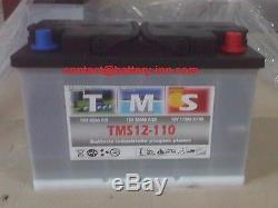 Battery Camping Car Lead Plates Open 12v 110ah Slow Release 1300 Cy