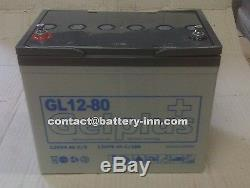 Battery Gel 12v 80ah Nacelle Self-powered Slow Discharge Up To 1300 Cycles