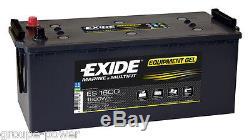 Battery Gel Exide Es1600 12v 140ah Slow Discharge Camping Car, Boat, Solar