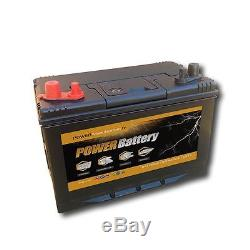 Battery Slow Discharge Camping Car Boat 12v 100ah Double Terminal 302x172x220mm