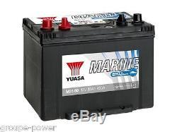 Battery Slow Discharge Marine Boat Yuasa M26-80 12v 80ah 260x264x225mm