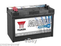 Battery Slow Discharge Marine Boat Yuasa M31-100 12v 100ah 330x175x240mm