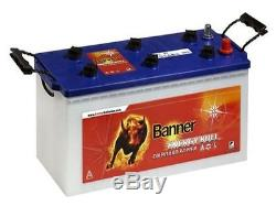 Battery Stationary Boat Banner Energy Bull 96351 With Slow Discharge 12v 180ah