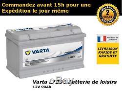 Boat Battery Varta Lfd90 12v 90ah Slow / Deep Discharge