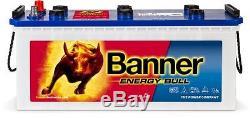 Camper Battery Slow Discharge Banner Energy Bull 96051 12v 130ah Boat