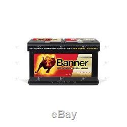 Car Battery Agm Banner Running Bull 58001 12v 80ah 800a Slow Discharge