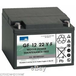Discharge Battery Slow Exide Sonnenschein Gel Gf 120 22yf 12v 24ah