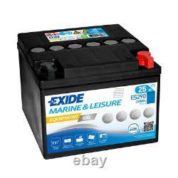 Exide Marine Equipment Es290 Discharge Slow Gel 12v 25ah