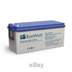 Gel Solar Battery 200ah 12v Discharge Slow-ecowatt