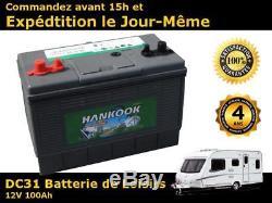 Hankook 100ah Battery Slow Discharge 12v Marine Warranty 4 Years