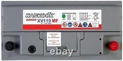 Hankook Xv110 12v 110ah Battery Discharge Slot For Leisure, Caravan, Camping C