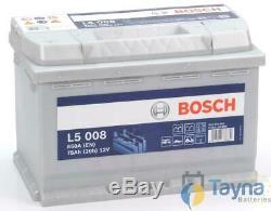 L5008 Battery Bosch 12v 75ah Camping Boat L5 008