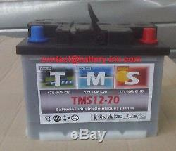 Lead Battery Tms Marine, Navigation Nauique 12v 70ah Discharge Slow 1300 Cycle