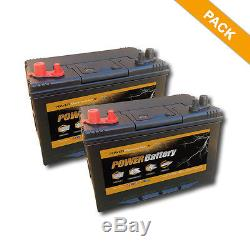 Pack Of 2 X Sealed Batteries Slow Charge 12v 86ah 500 Lifecycles