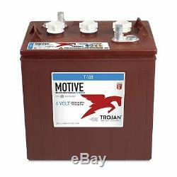 Set Of 4 Trojan Cyclic Battery 6v 240ah T-125 + Free Car Golf Photov Acid