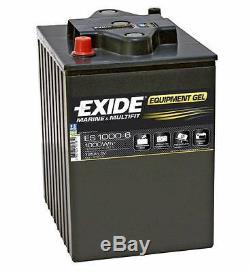 Slow Discharge Battery Exide Equipment Gel Es1000-6 6v 195ah 244x190x275mm