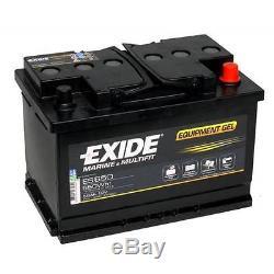 Slow Discharge Battery Exide Equipment Gel Es650 12v 56ah 278x175x190mm