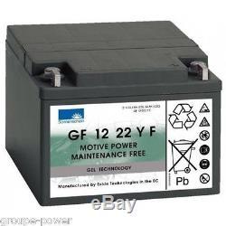 Slow Discharge Battery Gel Exide Sonnenschein Gf 120 22yf 12v 24ah