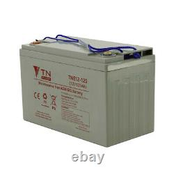 Slow Discharge Vrla Battery Tne12-125 Tn 12v Power 125ah
