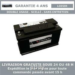 Titanium Xv110 Battery Slow Discharge For Caravan And Camping Car 12v 110ah