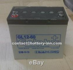 Vehicle And Golf Carriage Battery Gel 12v 60ah With Slow Discharge, 1300 Cycles