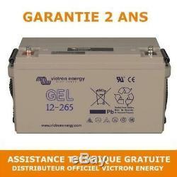 Victron Energy Gel Leisure Battery Slow Discharge 12v / 265ah Bat412126101