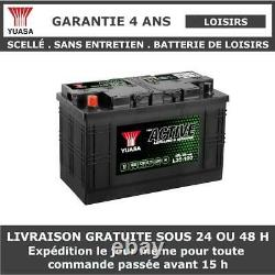 Yuasa L35-100 Battery Discharge Slot For Caravan And Camping Car 12v 100ah