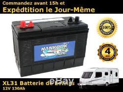 130Ah 12V Batterie de camping car à cycle profond Décharge Lente