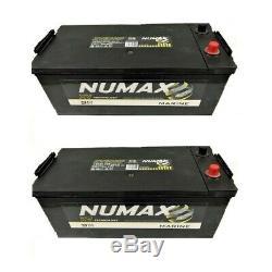 2 Batteries Numax decharge lente 180ah cellule CXV Technologie sans entretien