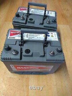 2 batterie decharge lente 80Ah Hankook
